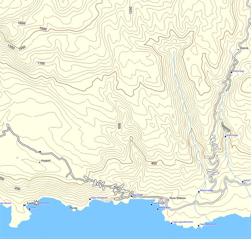 GPS maps of Crete and Greece