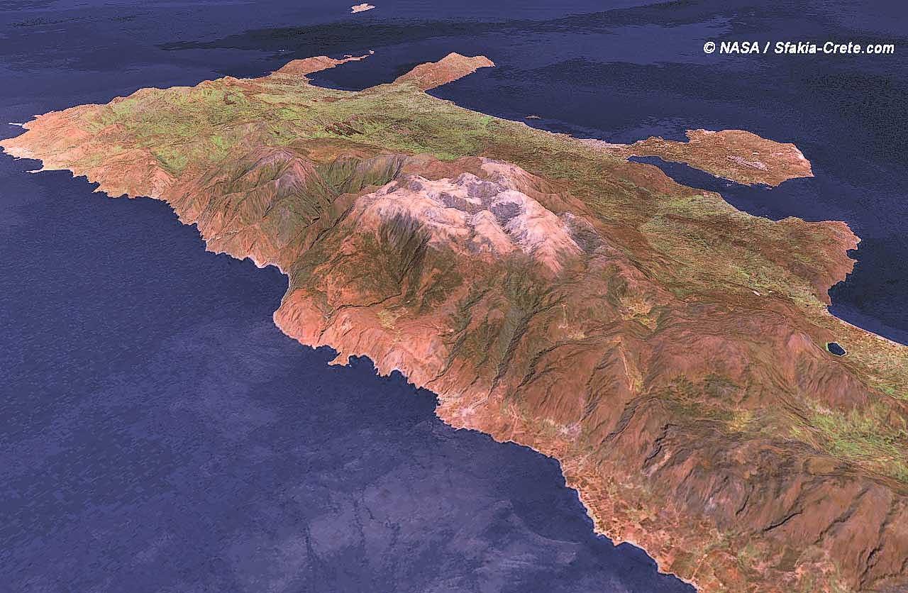Creta 2017 White >> Satellite impressions of Crete - Greece: 3D maps of Crete
