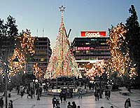 syntagma square christmas tree - Greek Christmas Decorations
